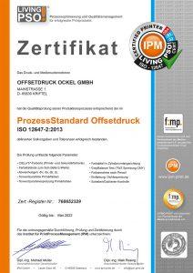 Zertifikat-ISO Ockeldruck
